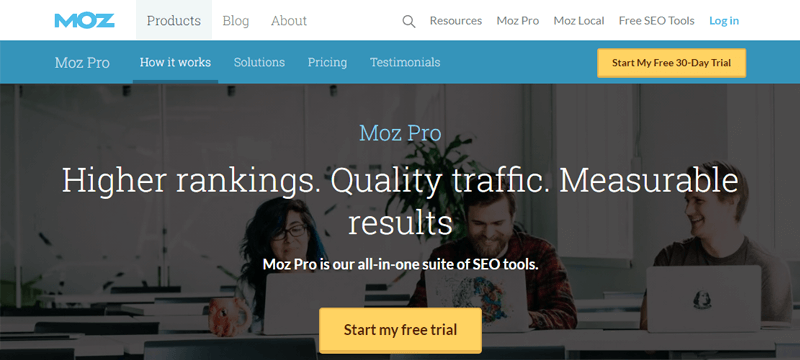 Moz Content Marketing and SEO Tool