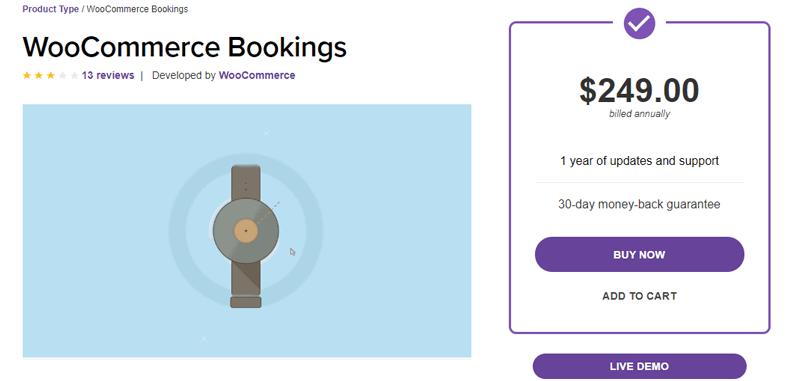 WooCommmerce Bookings