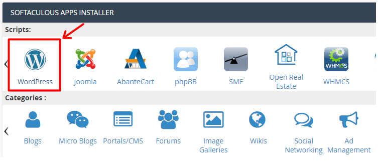 One Click WordPress Installer