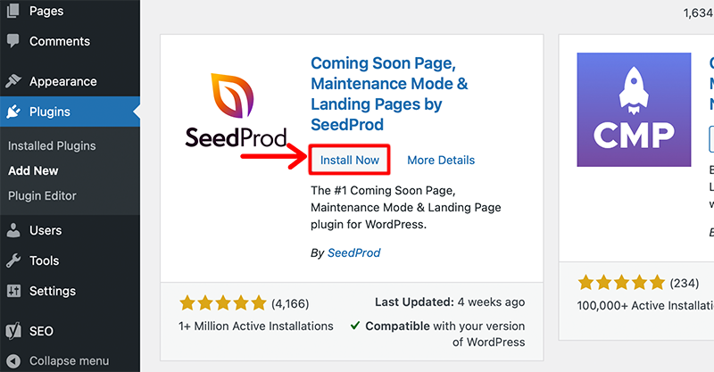 Install Seed Prod
