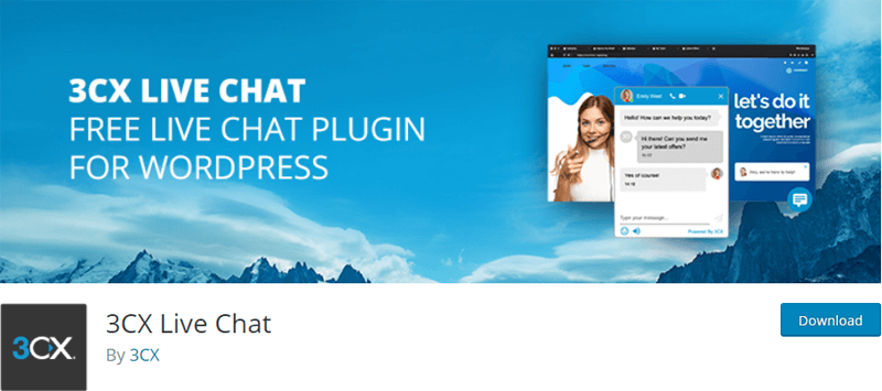 3CX Live Chat Support Plugin