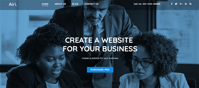 Airi - Best Free Minimalist WordPress Themes