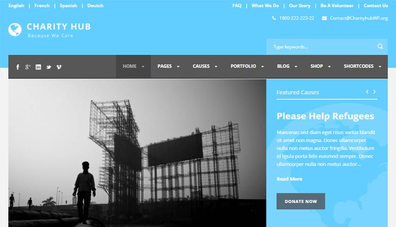 CharityHub-Charity Website Template