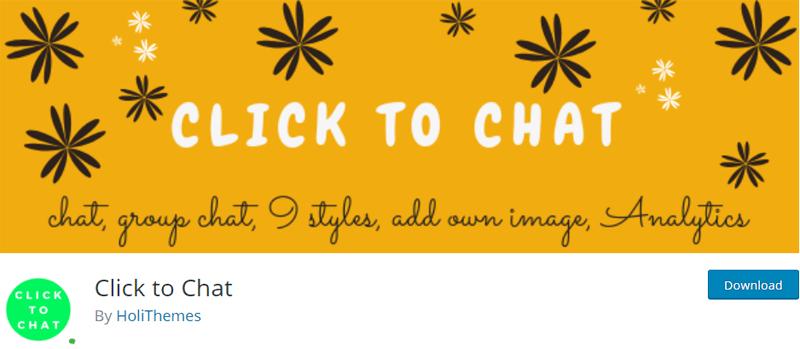 Click to Chat Free WordPress Live Chat Plugin