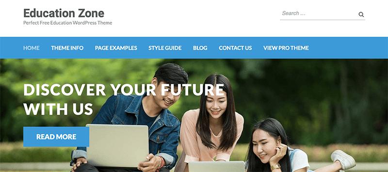 Education Zone- Best Free Minimalist WordPress Themes