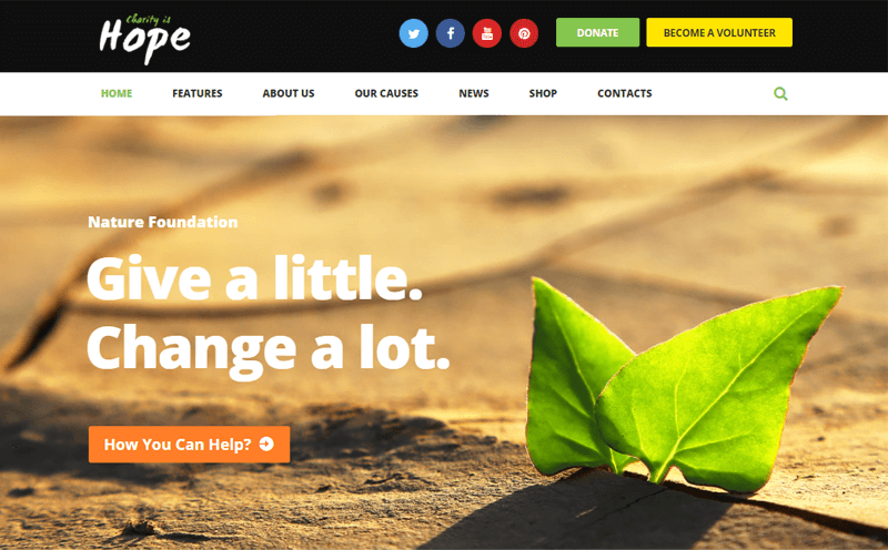Hope Theme for nonprofits and charity websites