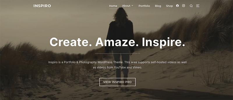 Inspiro  - Best Free Minimalist WordPress Themes