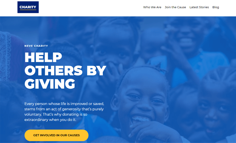 Neve-Charity Website Template