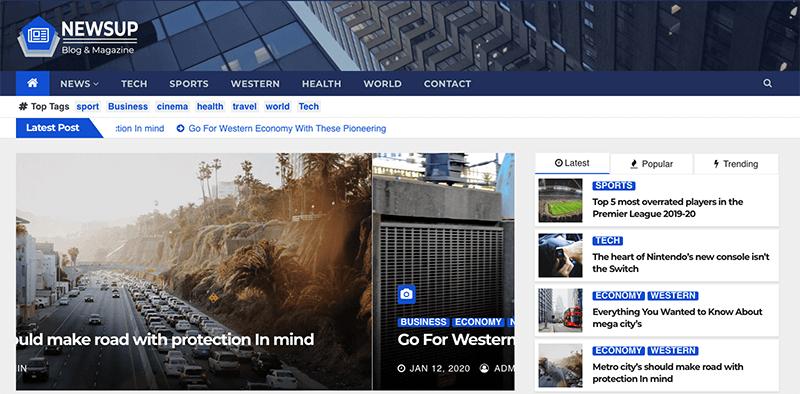 Newsup  - Best Free Minimalist WordPress Themes