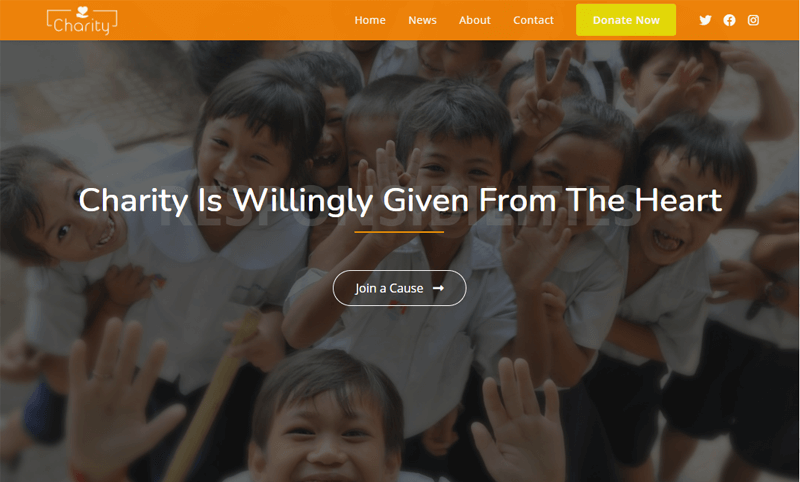 OceanWP-Charity WordPress Themes for nonprofit websites