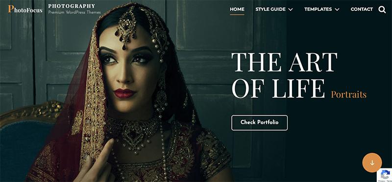 PhotoFocus - Best Free Minimalist WordPress Themes