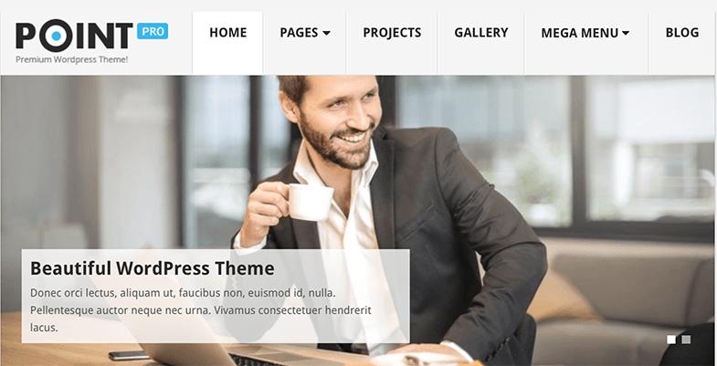 Point  - Best Free Minimalist WordPress Themes