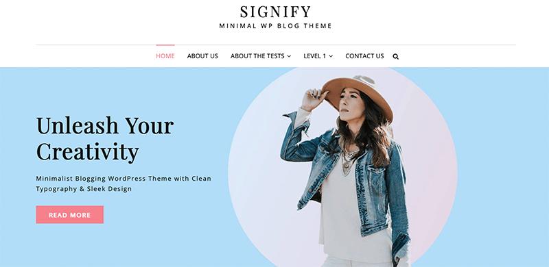 Signify - Best Free Minimalist WordPress Themes
