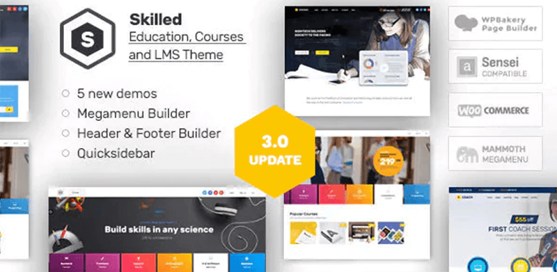 Skilled - Best LMS WordPress Theme