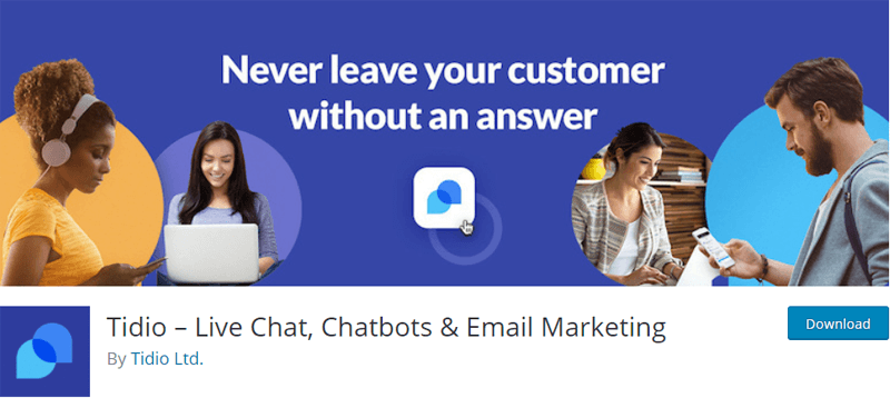 Tidio - Live Chat, Chatbots & Email Marketing