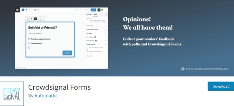 Crowdsignal Forms Best WordPress Survey Plugins