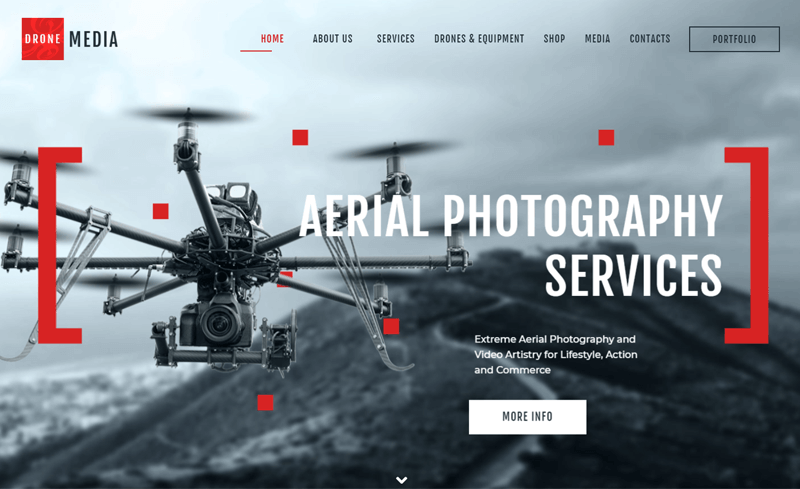 Drone Media Aerial Photography Theme