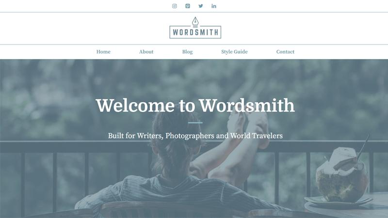 GeneratePress Word Smith Photography Theme