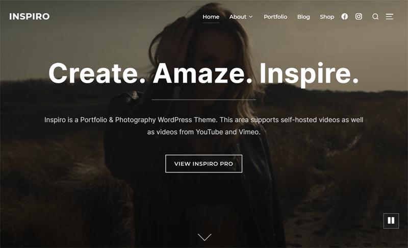 Inspiro Theme for Photographers