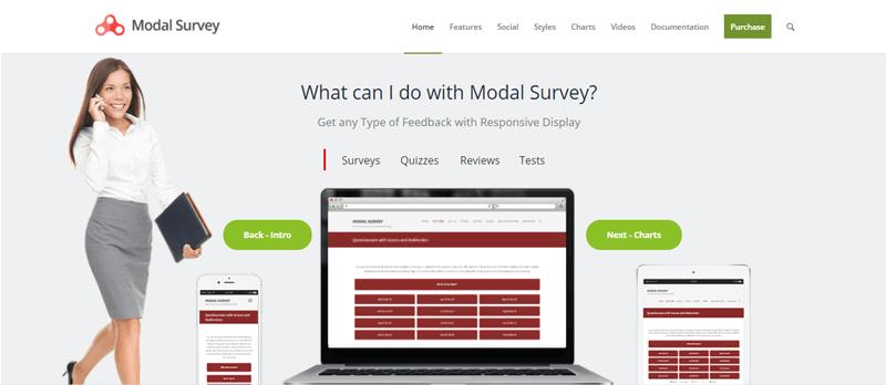 Modal Survey Free WordPress Survey Plugins