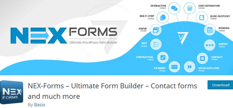 NEX-Forms Free WordPress Survey Plugin