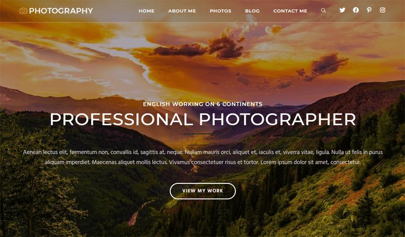 OceanWP WordPress Themes for Photographers