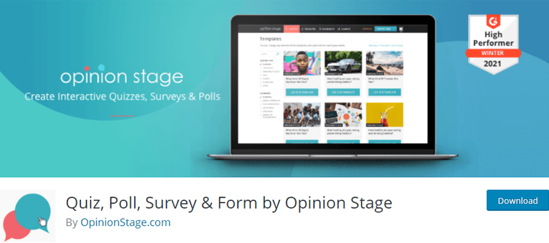 OpinionStage Free WordPress Survey Plugin