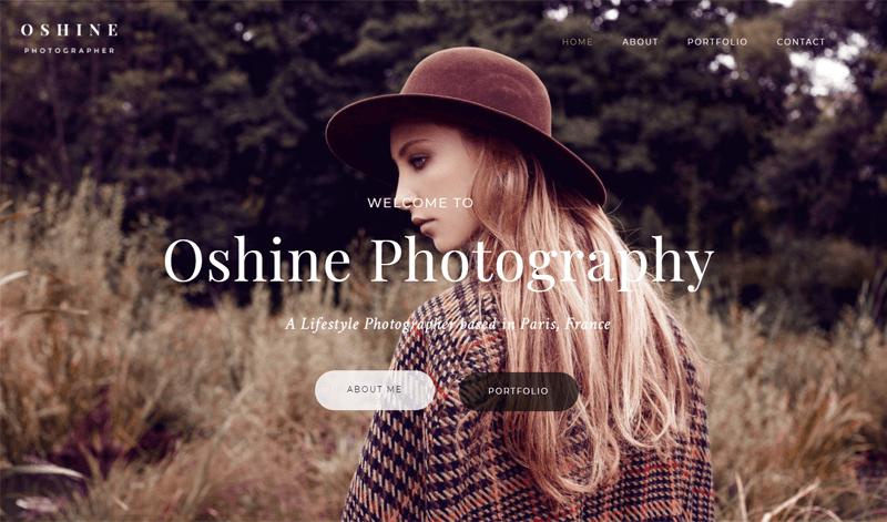 Oshine Photography WordPress Theme