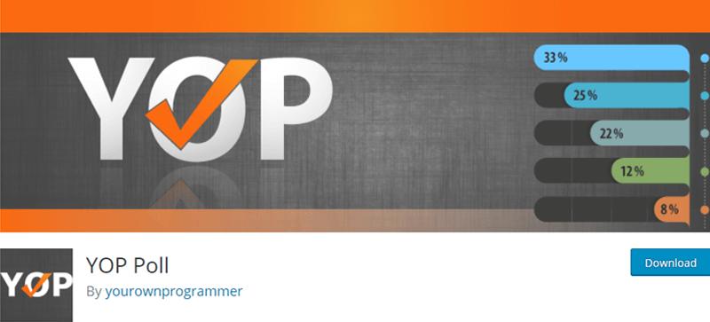 YOP Poll Best WordPress Survey Plugins
