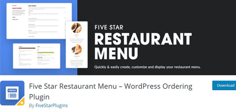 Food Menu WordPress Restaurant Menu Plugin