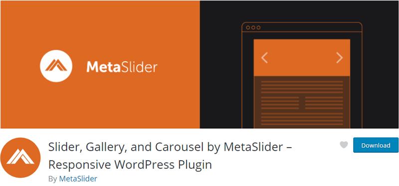 Slider, Gallery, and Carousel by MetaSlider- Responsive WordPress Plugin