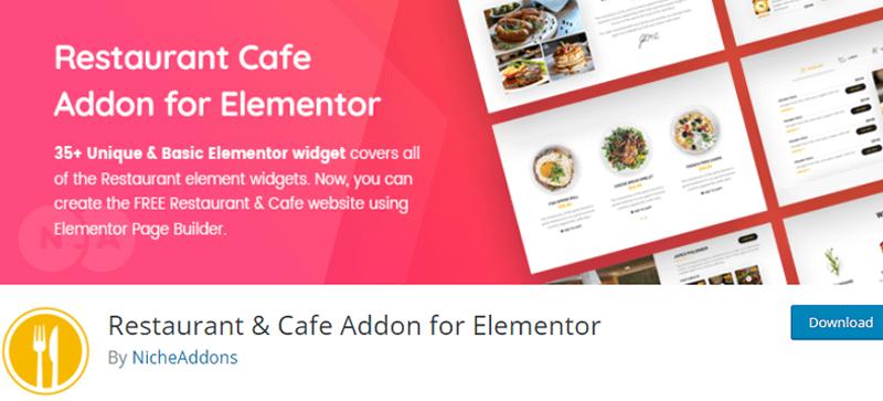 Restaurant and Cafe Addon for Elementor
