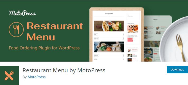 Restaurant Menu by MotoPress WordPress Menu Plugin Free Download