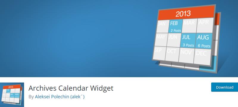 archives calendar widget best wordpress archive plugins
