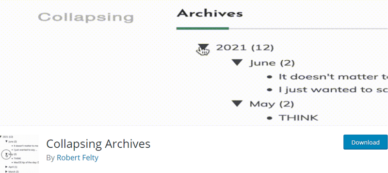 collapsing archives best wordpress archive plugins