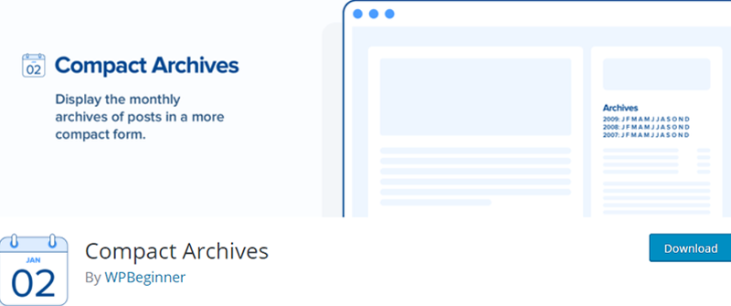 compact archives best wordpress archive plugins