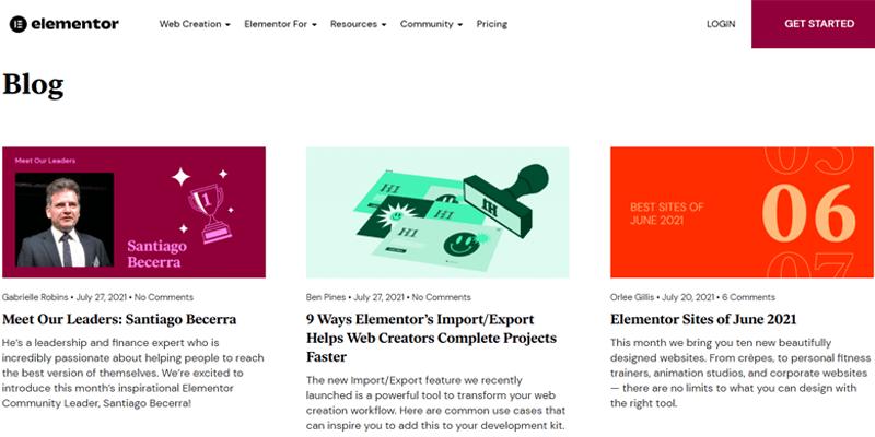 Elementor Review Blogs