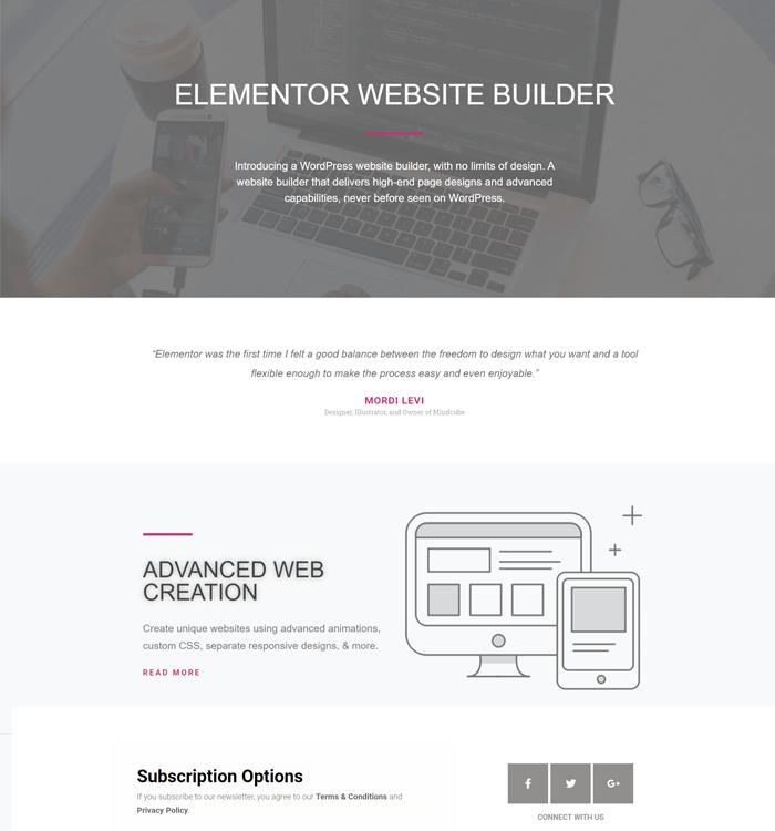 Elementor Page Demo