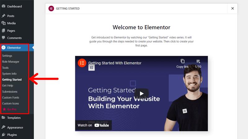Getting Elementor Started