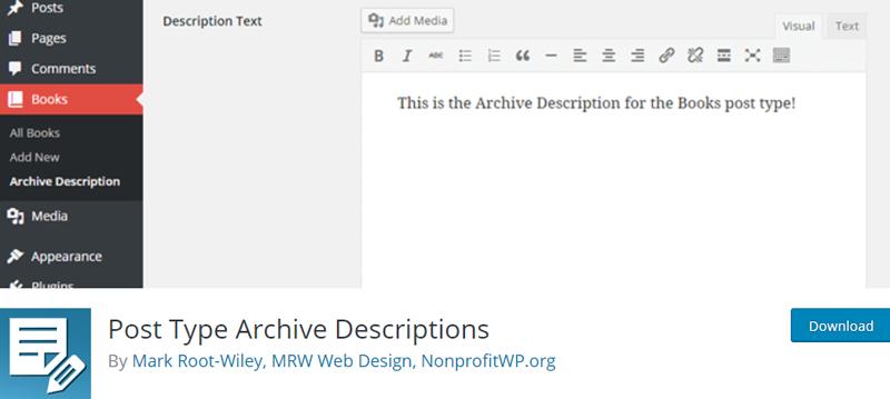 post type archive description best wordpress archive plugins