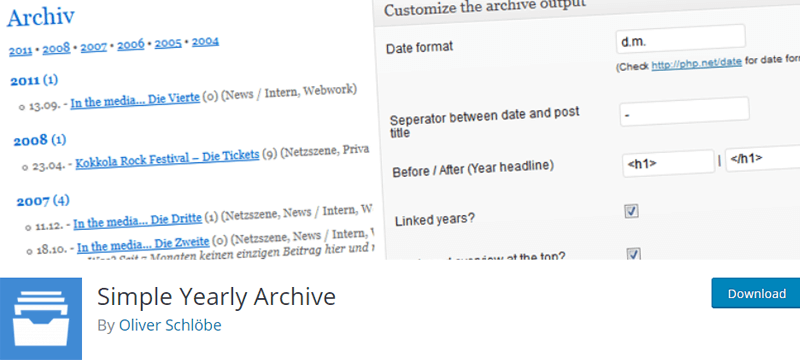simply yearly archive best wordpress archive plugins