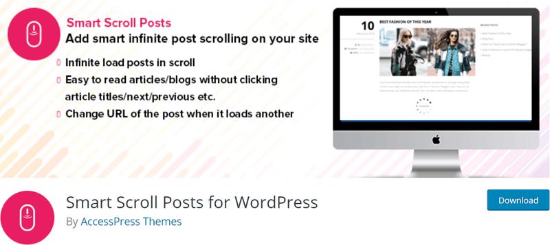 Small Scroll Posts Best Infinite Scroll WordPress Plugin