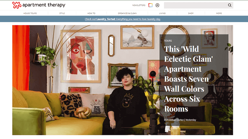 Apartment Therapy Blog popular lifestyle blog