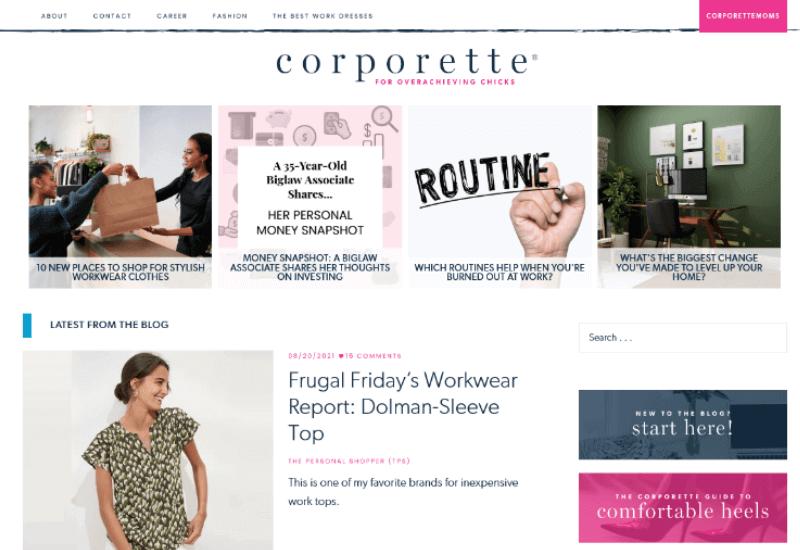 Corporette fashion and style Blog