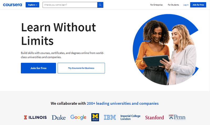 Coursera Online Course Websites