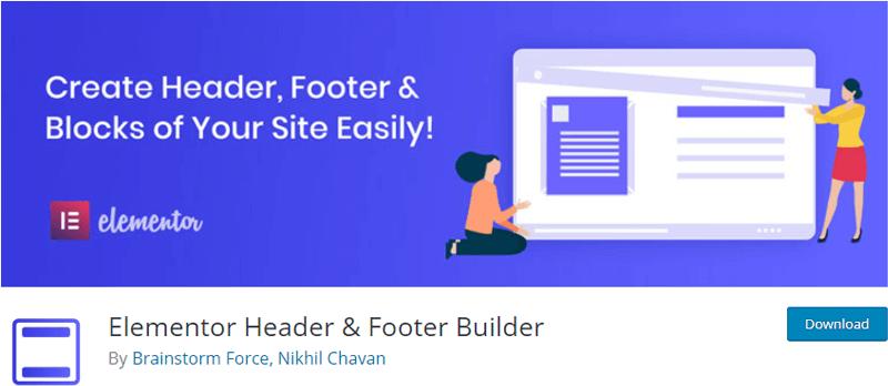 Elementor Header & Footer Builder
