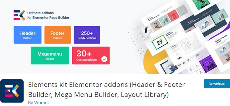Elements kit Elementor addons