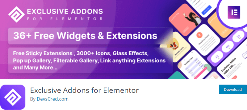 Exclusive elementor extensions