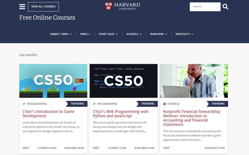 Harvard Academy Website