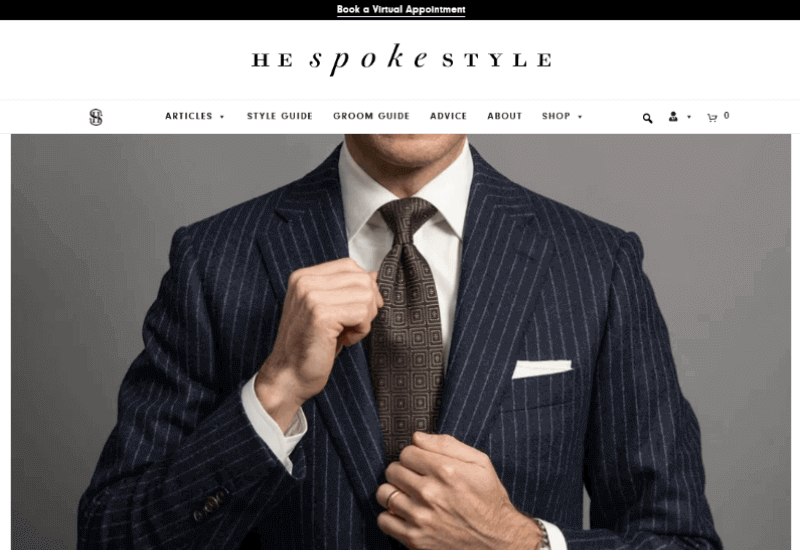 He Spoke Style men fashion Blog